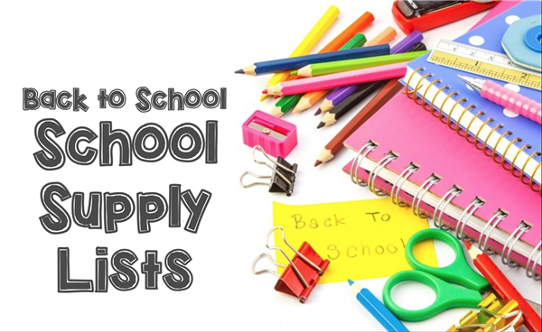School Supply Lists for 2020-2021!