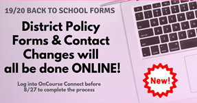 2019-2020 Back to School Forms