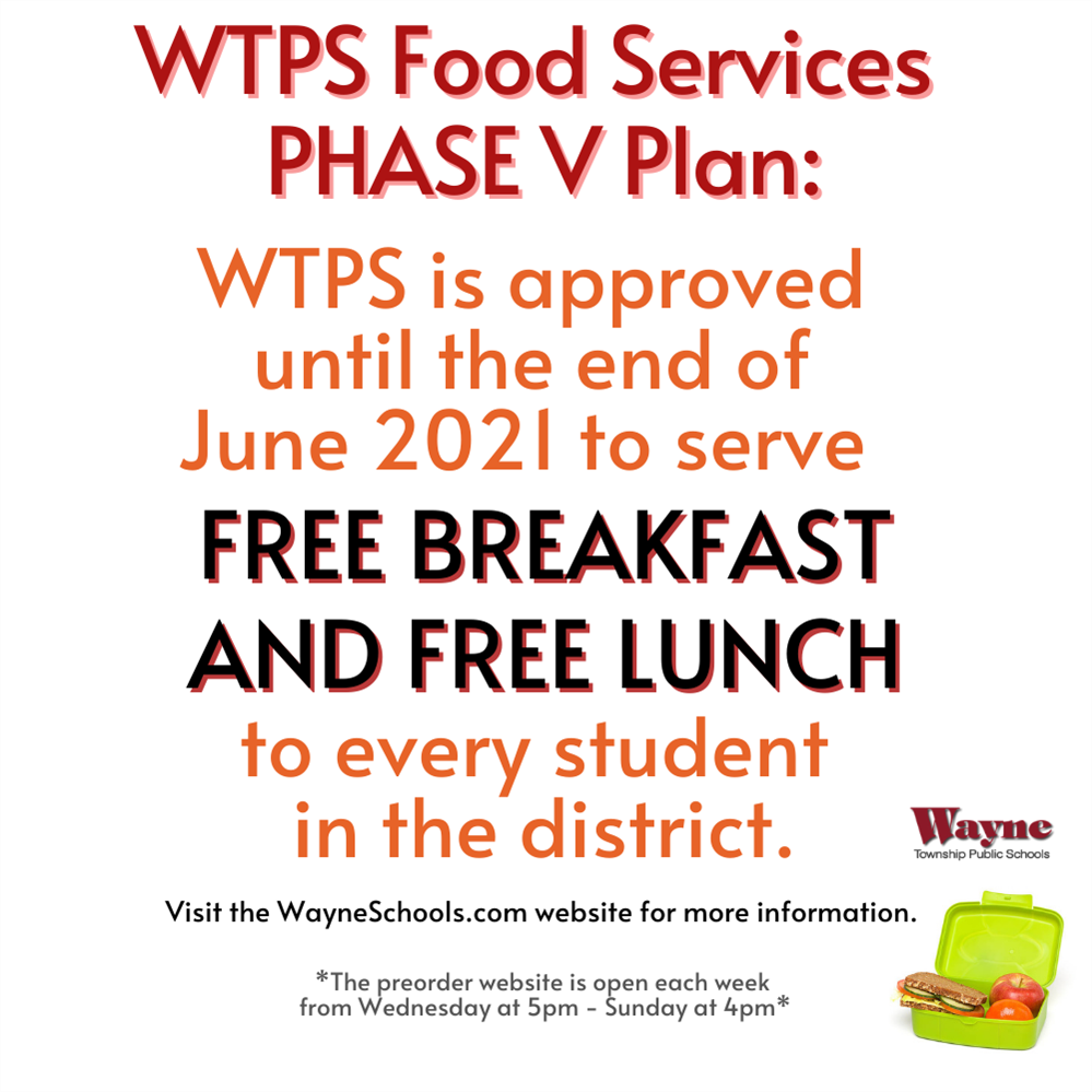 WTPS Foodservices: PHASE V PLAN