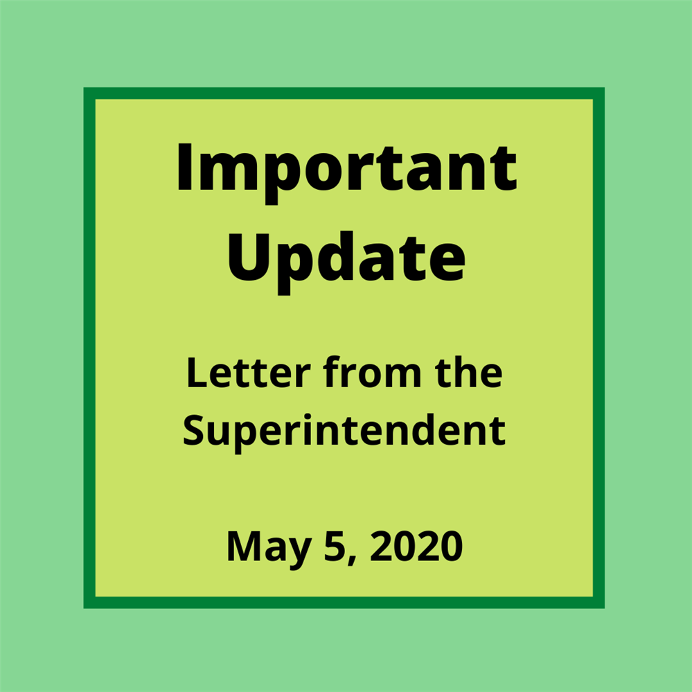 Letter from the Superintendent - Important Update