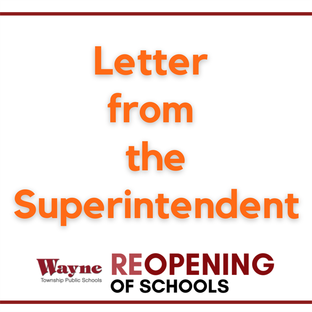 Letter from the Superintendent - August 14, 2020