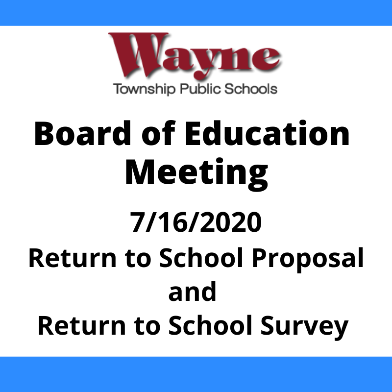 Return to School Proposal Available for Review