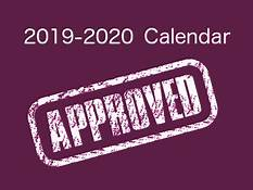 2019-2020 School Calendar Approved
