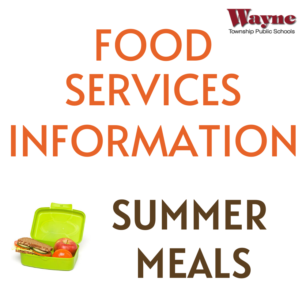 Food Services Summer Meals Announcement