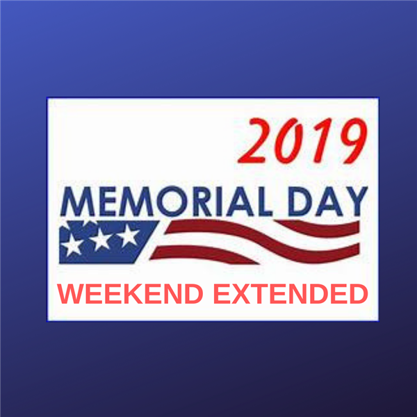 Extended Memorial Day Weekend
