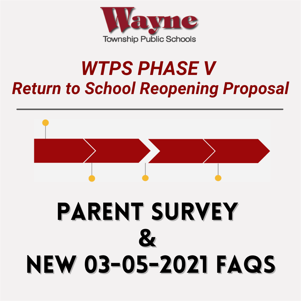 WTPS Phase V Parent Survey and New FAQs